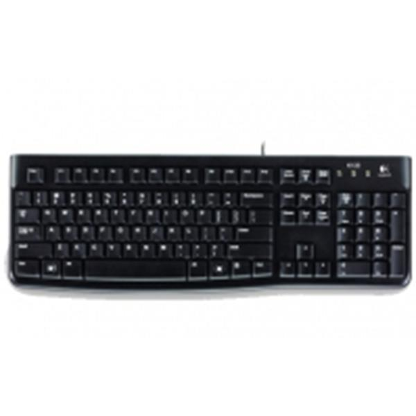 TECLADO LOGITECH K120 / USB / QWERTY / COLOR NEGRO