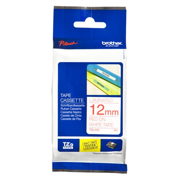TZE-232 LAMINATED TAPE 12MM 8M