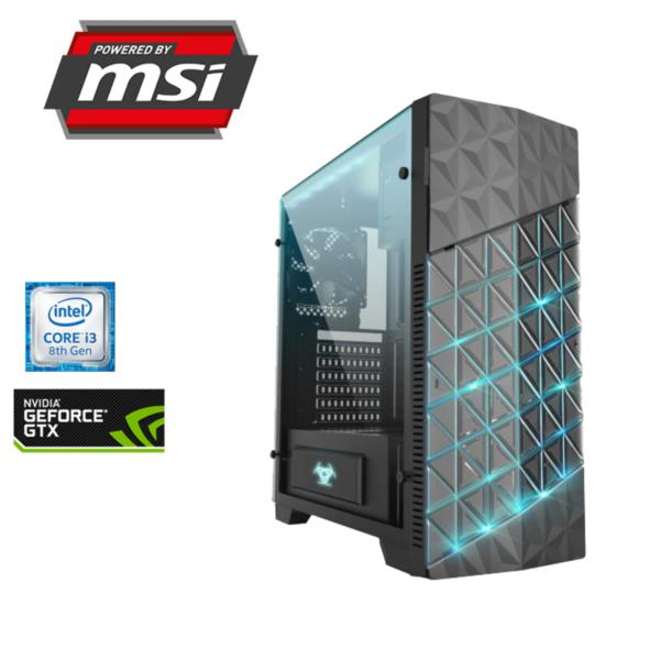 ORDENADOR POWERED BY MSI ESPORTS V2 i3-8100 3,6GHz/8GB DDR4/1TB/GEFORCE GTX 1050 4GB