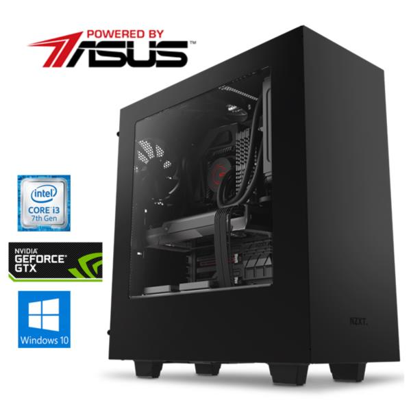 PC Powered by Asus - i3-7100, 8GB RAM DDR4, 1TB, GeForce GTX 1050, Windows 10