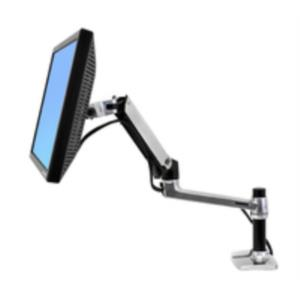 LX Desk Mount Arm Polished Aluminium